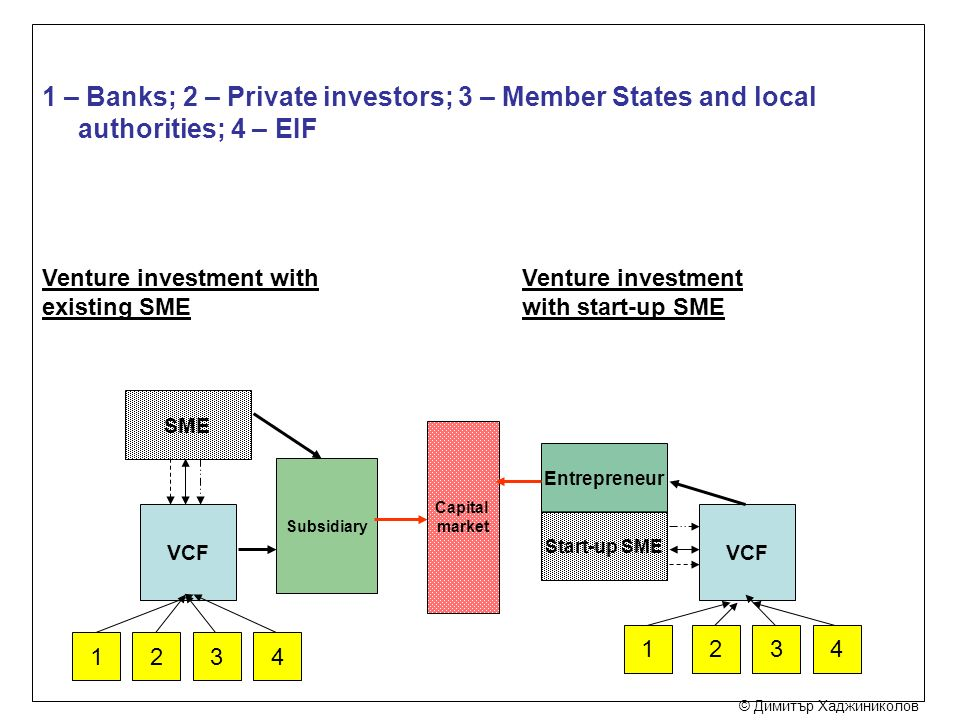 1 – Banks; 2 – Private investors; 3 – Member States and local authorities; 4 – EIF