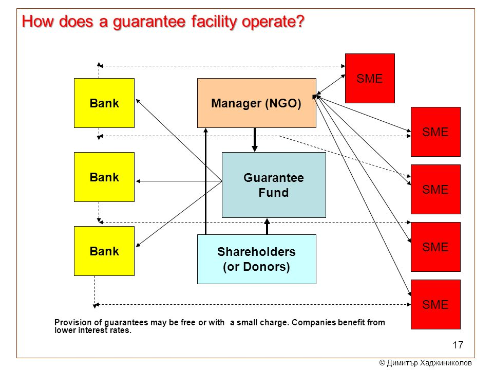 How does a guarantee facility operate