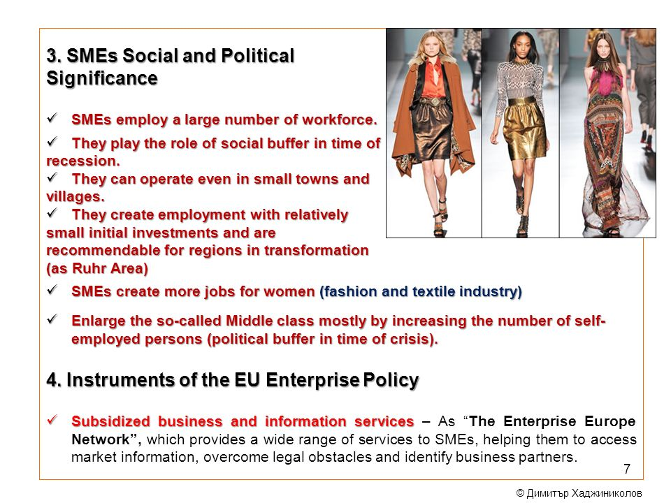 3. SMEs Social and Political Significance