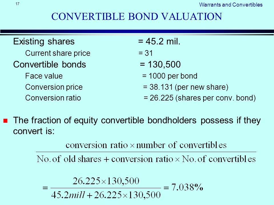 convertible bonds valuation