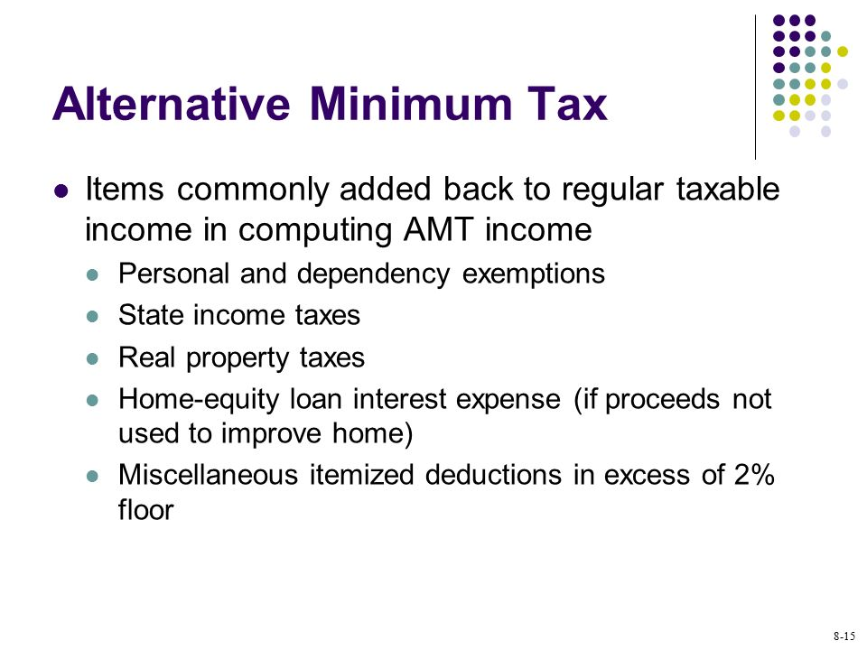 Property Tax Amt Phase Out