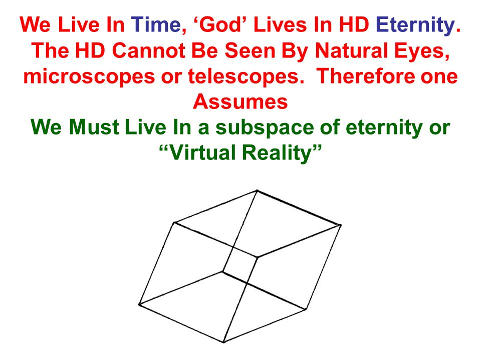 We Live In Time, 'God' Lives In HD Eternity