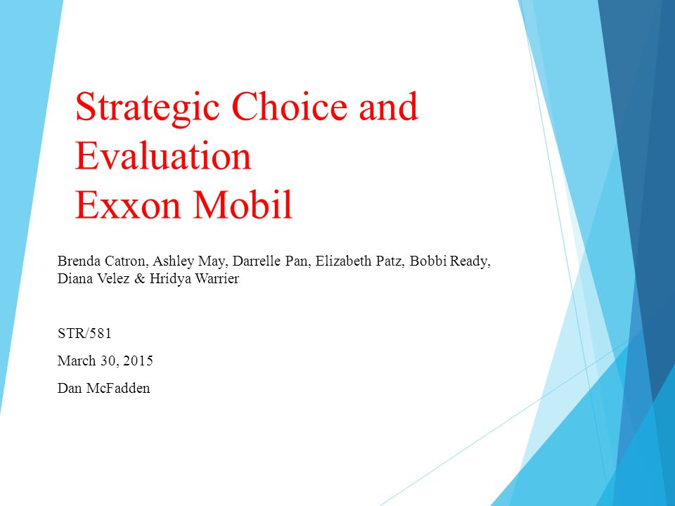 strategic choice and evaluation Strategic choice and evaluation it is very important for any business to make its own place in the market as well was grow the business when a business manager knows where he wants to see his business in.