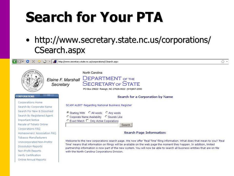 North Carolina Secretary of State Search