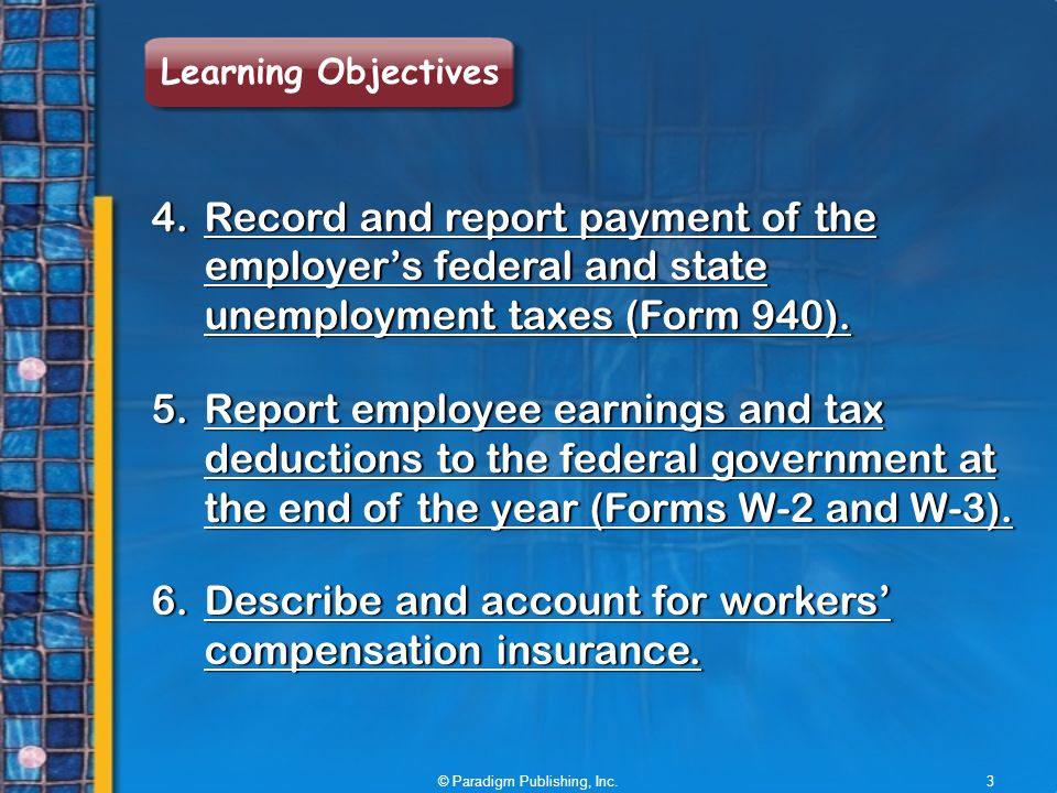 Accounting For Payroll: Employer Taxes And Reports - Ppt Video