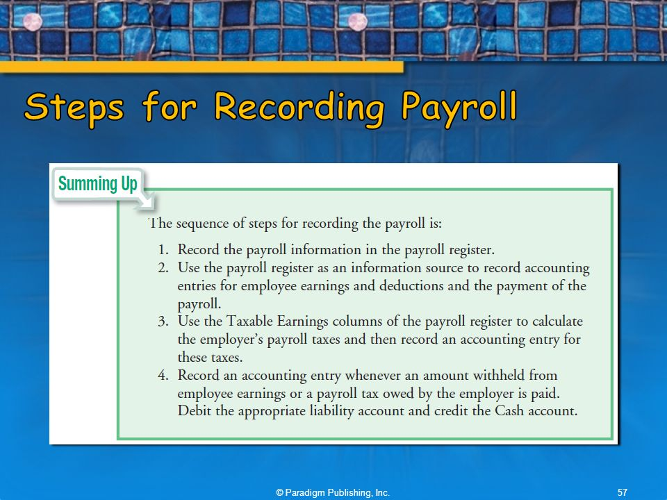 Accounting For Payroll Employer Taxes And Reports  Ppt Video