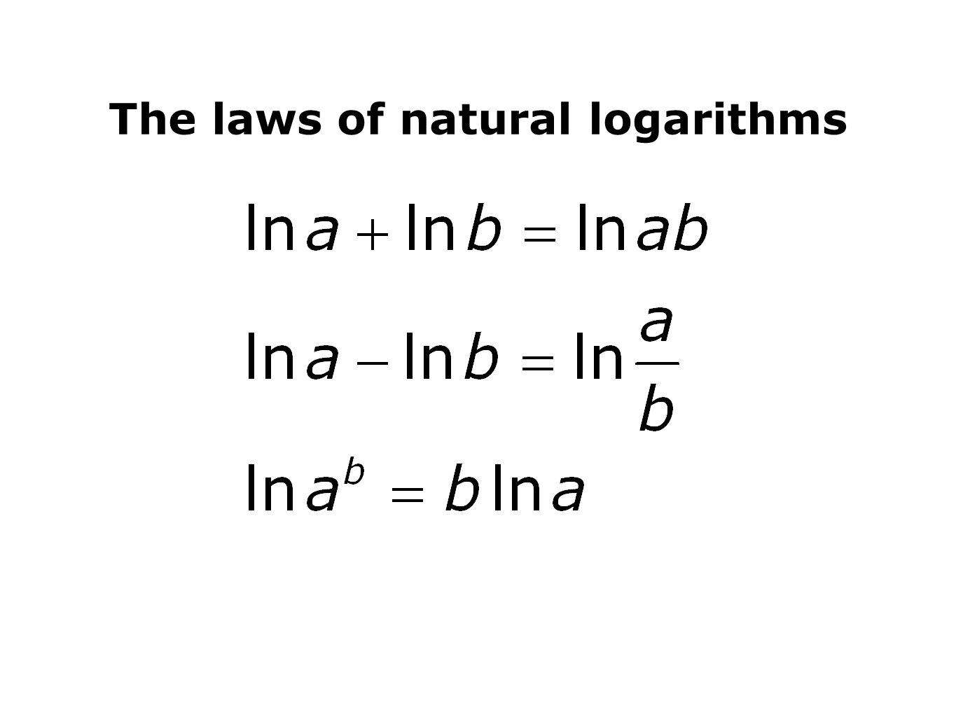 What Is Natural Logarithms Used For