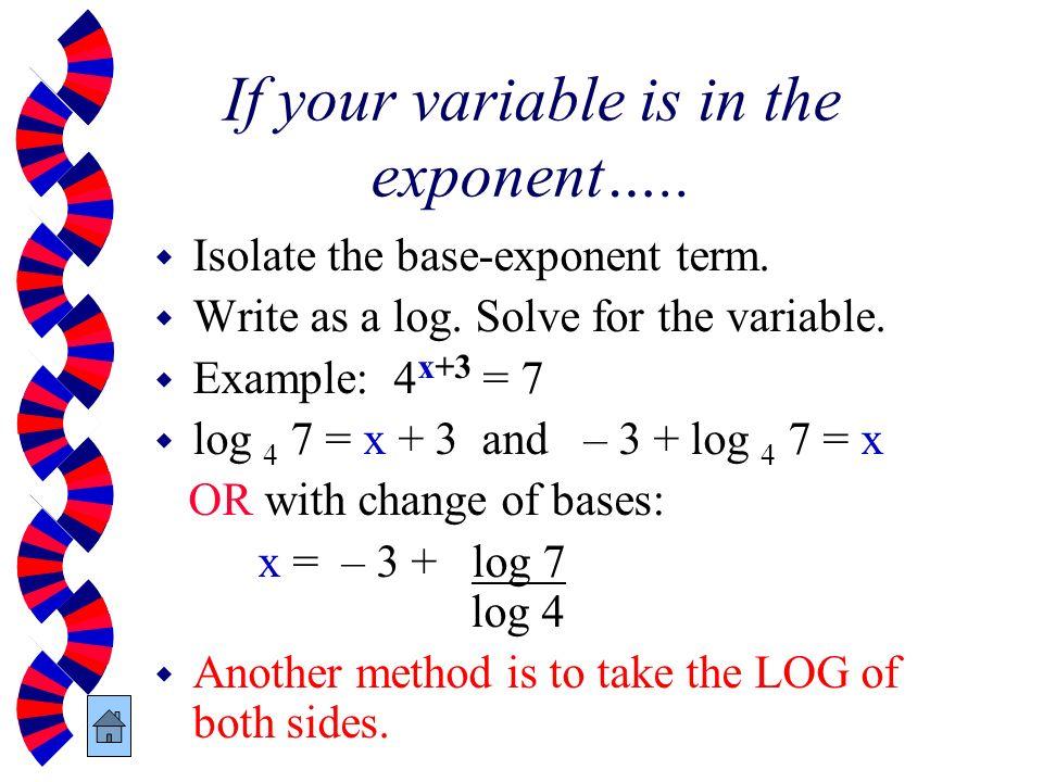log how to change base