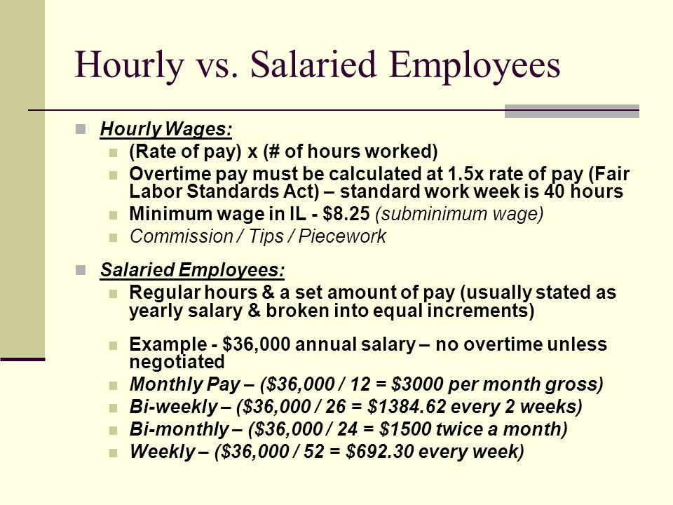Hourly vs. Salaried Employees