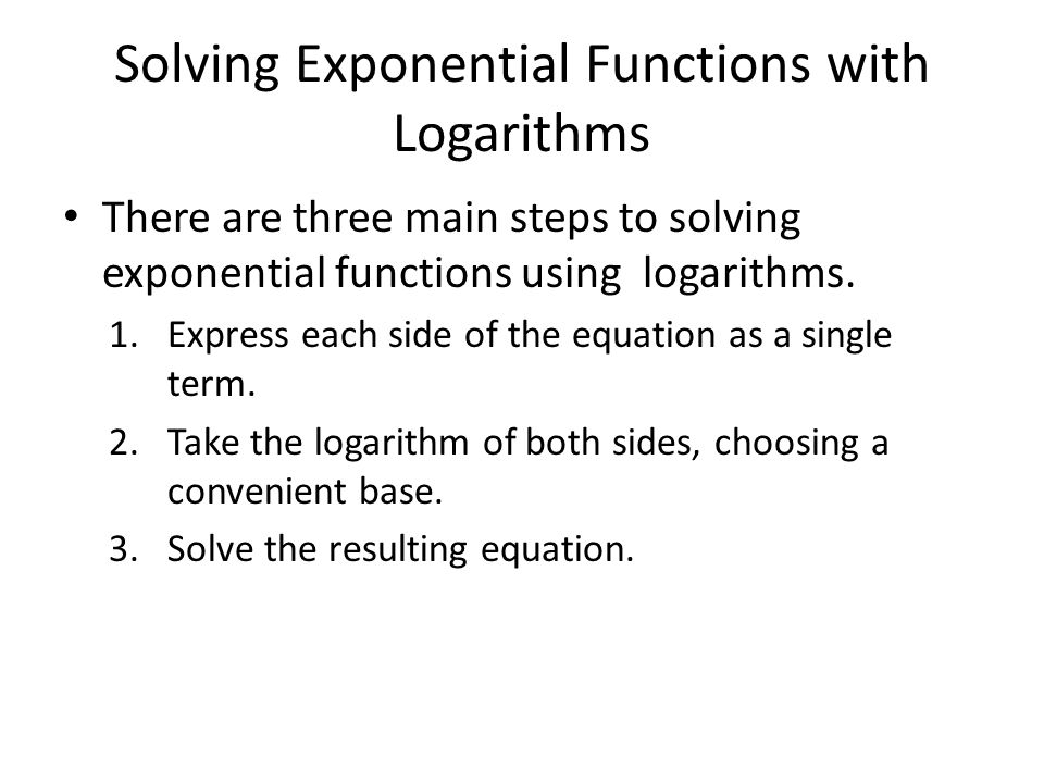 Solving An Exponential Equation By Using Natural Logarithms
