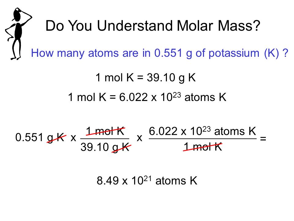 how to find a substances g mole