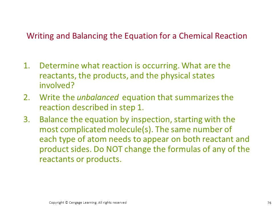 how to write chemical reactions