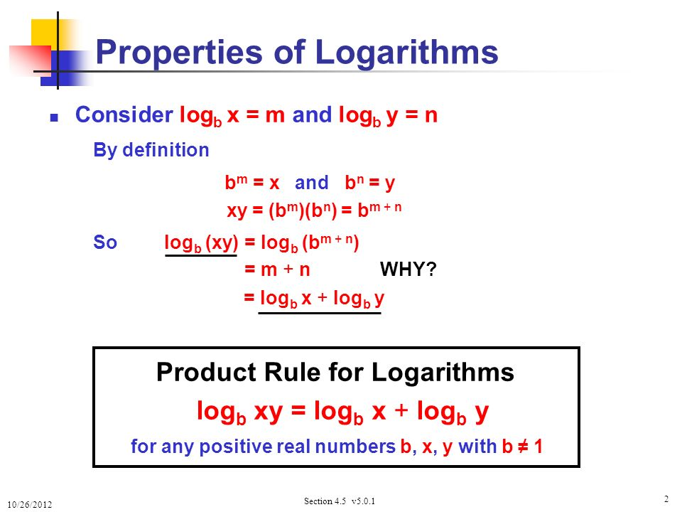 Properties Of Logarithms Definition Image Gallery - HCPR
