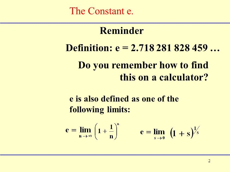 11 1 the constant e and continuous compound interest for Terest definition