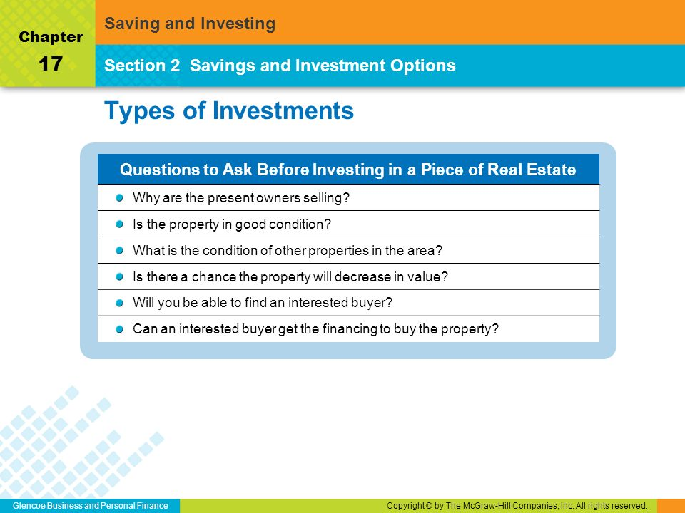 Chapters saving investing ppt download for What kind of loan can i get to buy land