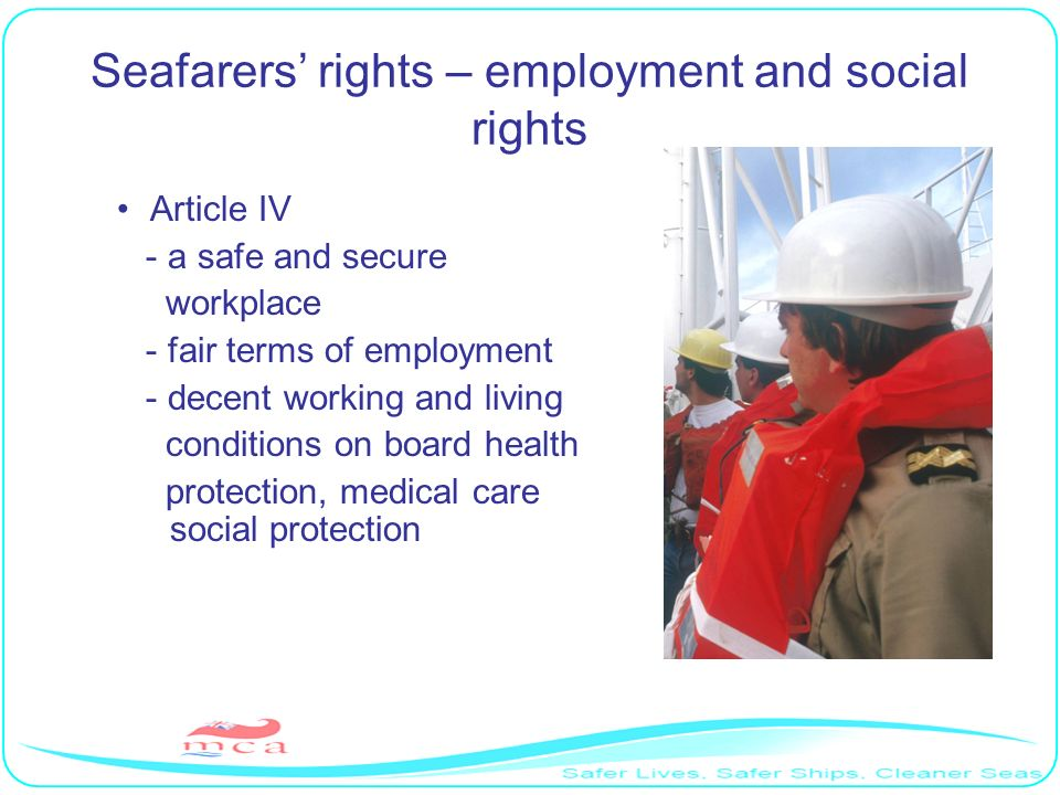 Seafarers' rights – employment and social rights