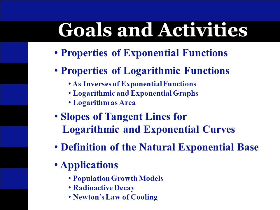 Logarithmic And Exponential Functions Ppt Video Online Download