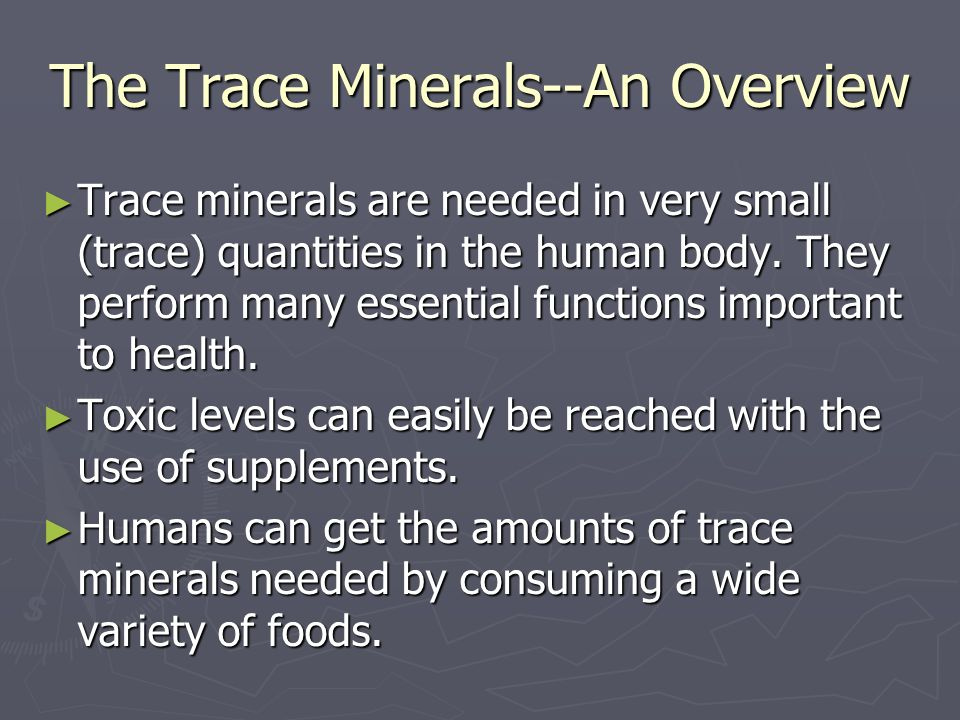 the sources and uses of minerals in the human body Find out about vitamins and minerals including beta-carotene, copper, potassium  and zinc  the main sources of beta-carotene are: yellow and  but cobalt isn't  currently used in supplements in the uk, and the amount we get from food isn't  harmful  manganese helps make and activate some of the enzymes in the body.
