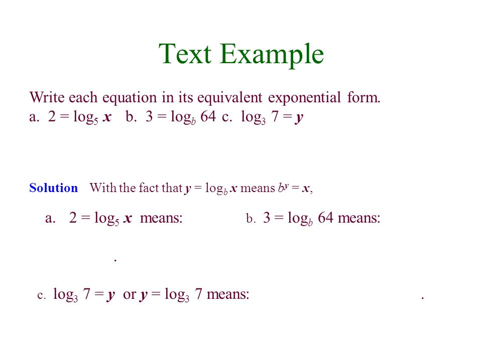 4.2 Logarithmic Functions - ppt video online download