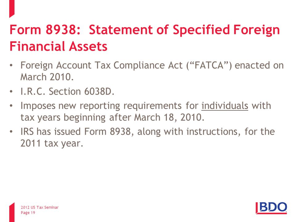 Foreign Account Reporting - ppt download