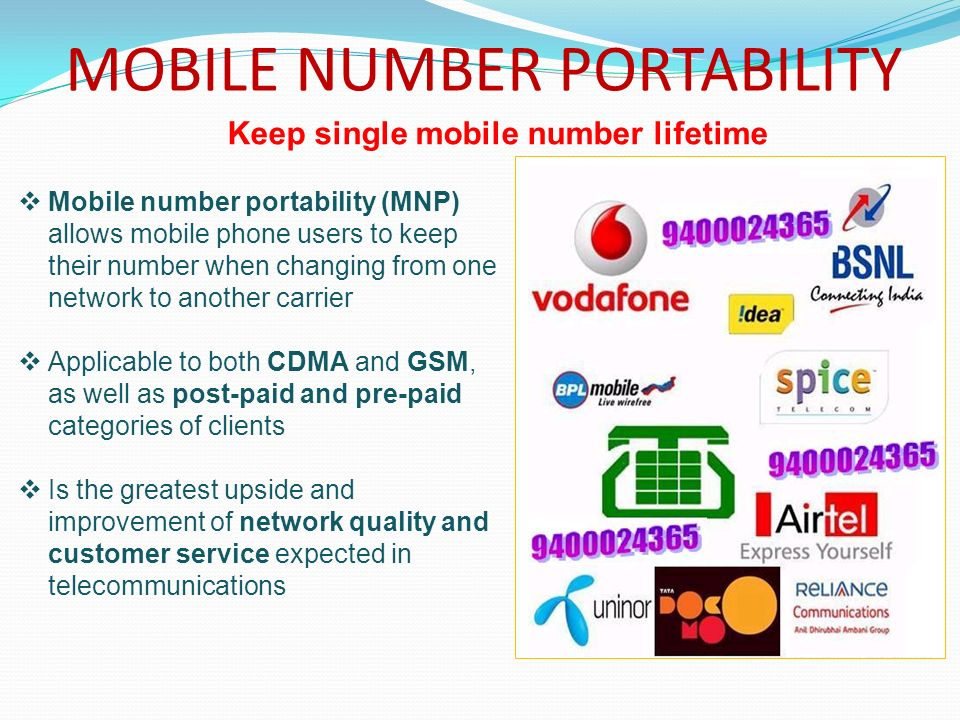 mobile number portability essay 1 introduction mobile number portability (mnp) requires that mobile telephone customers can keep their telephone number–including the pre fix–when switching from one provider of mo-.