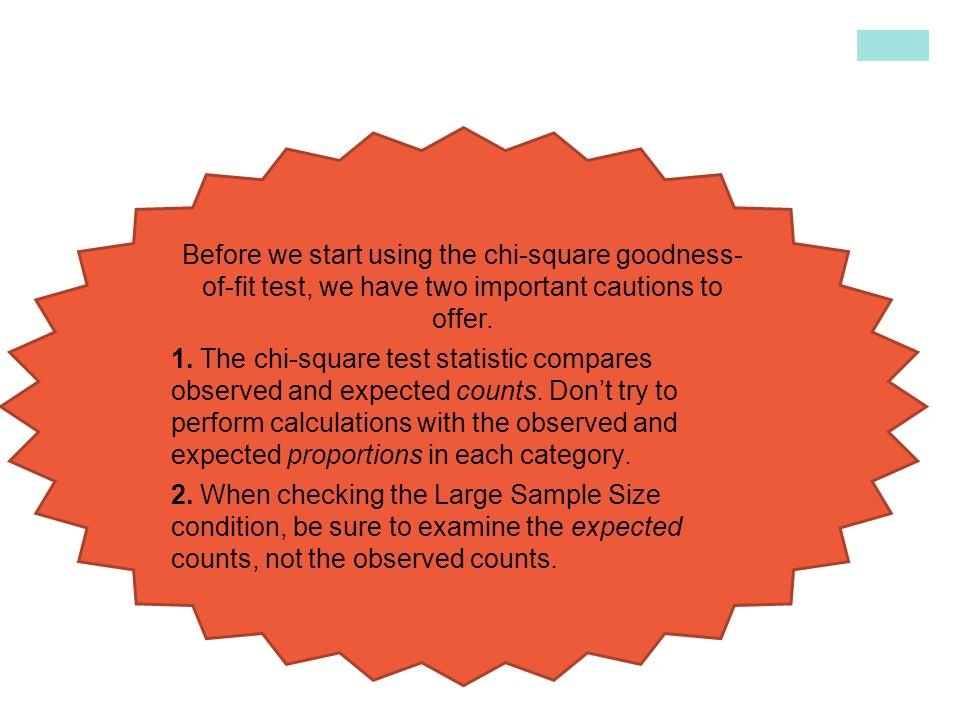 introduction to the chi square goodness of fit test