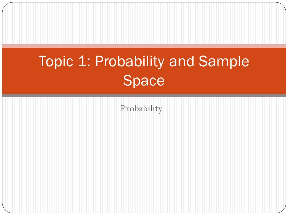 how to find the sample space in probability