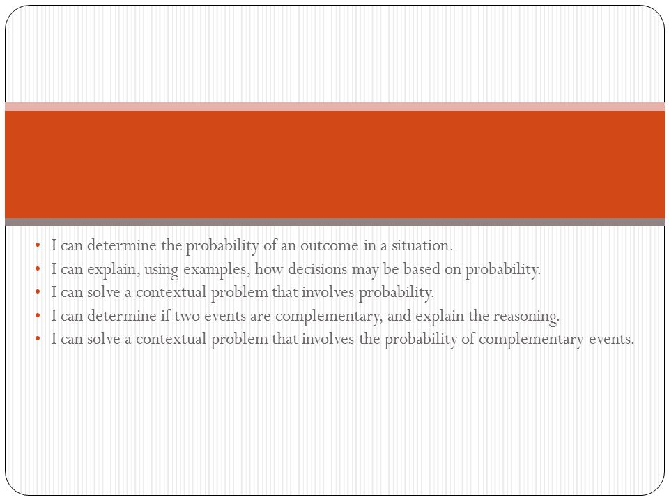 Topic 1: Probability and Sample Space - ppt download