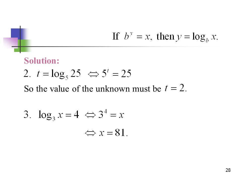 Rewrite as a logarithmic equation e^9=y