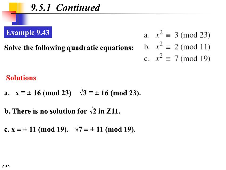 how to solve modulus quadratic equations