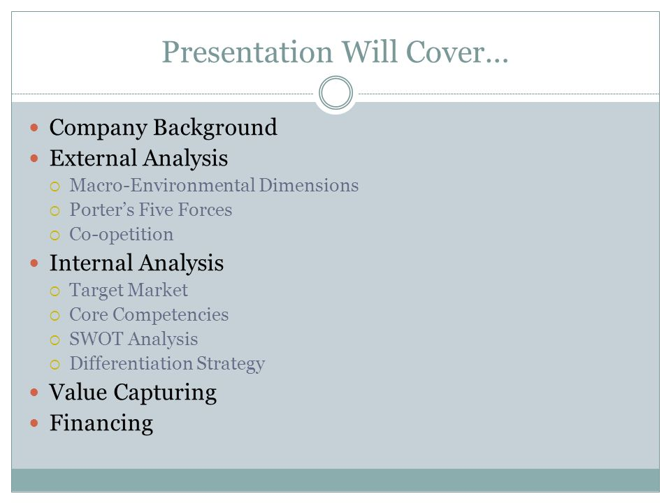 Presentation Will Cover…