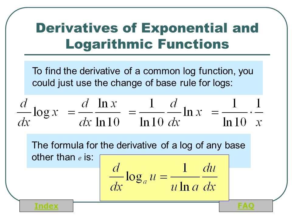 derivative of log function pdf