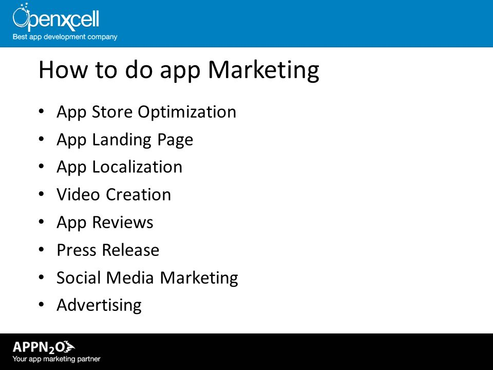 How to do app Marketing App Store Optimization App Landing Page