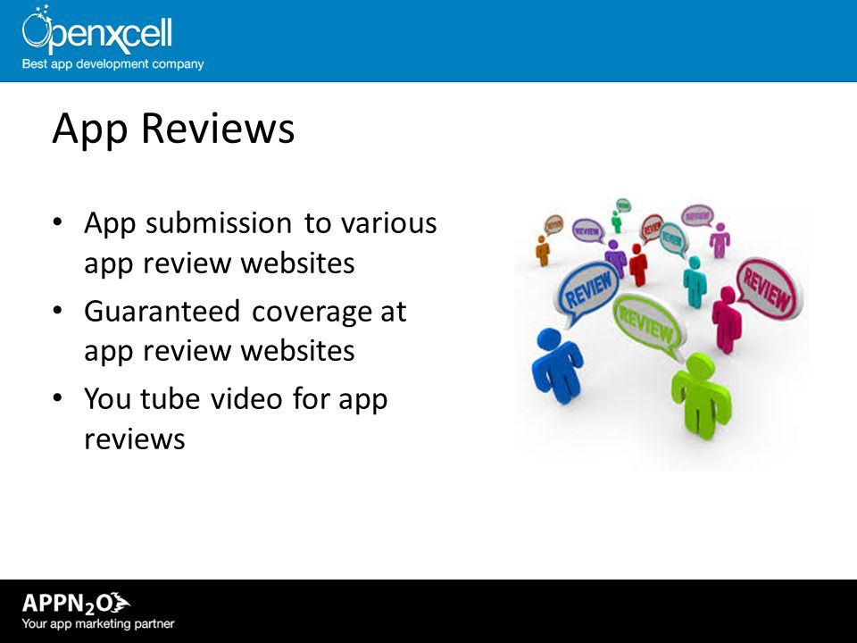 App Reviews App submission to various app review websites