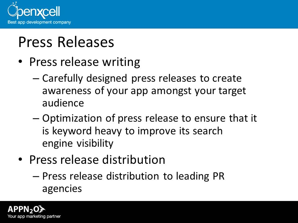 Press Releases Press release writing Press release distribution