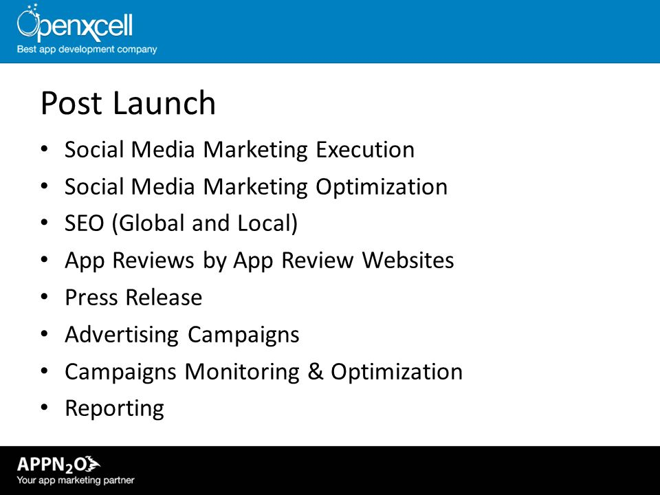 Post Launch Social Media Marketing Execution