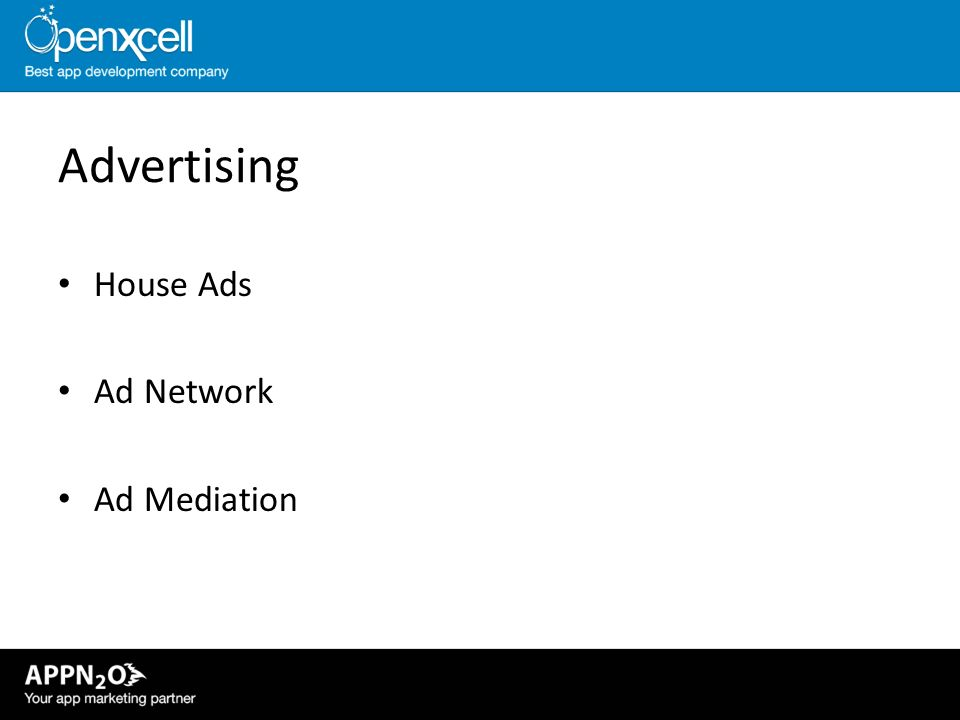 Advertising House Ads Ad Network Ad Mediation