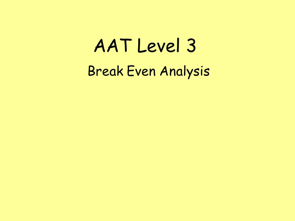 objectives of break even analysis Objectives upon completing this chapter, you will be able to do the following: compute break-even values using cost-volume-profit relationships.