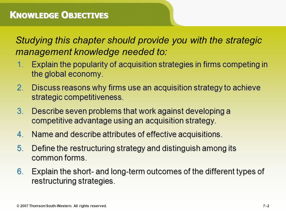 Chapter 7 Acquisition And Restructuring Strategies - Ppt Video