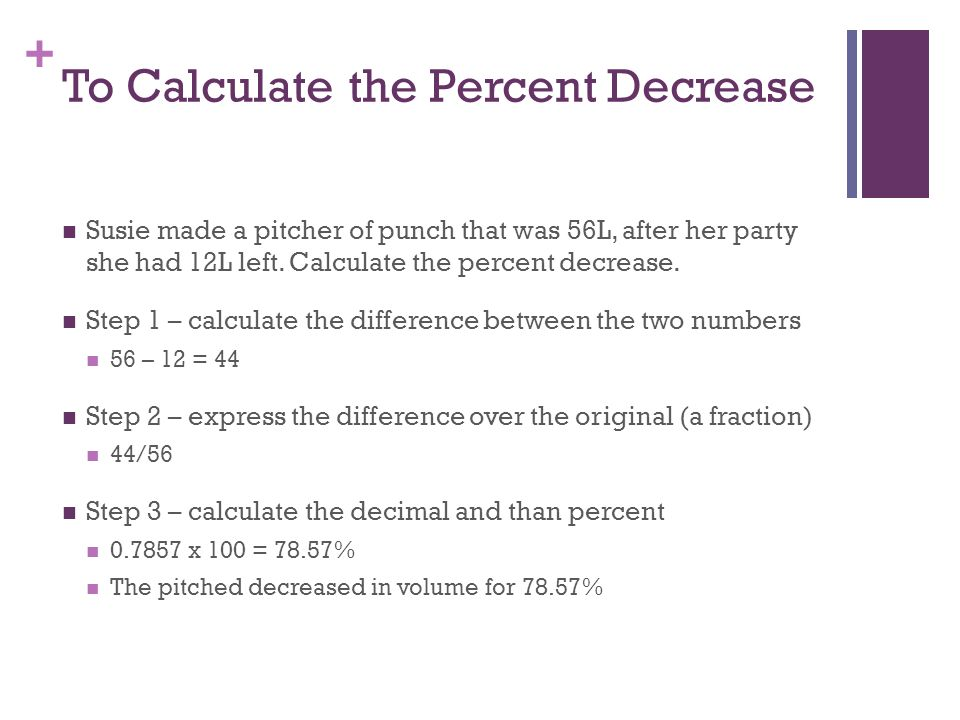 Ch 5 rate ratio and percent ppt download to calculate the percent decrease ccuart Choice Image
