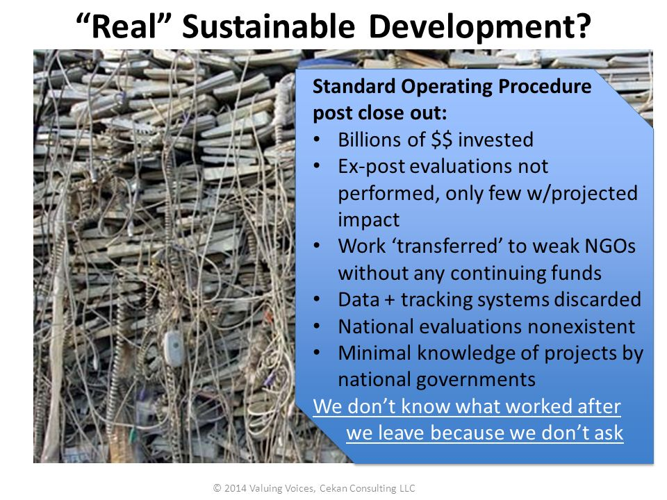 Real Sustainable Development