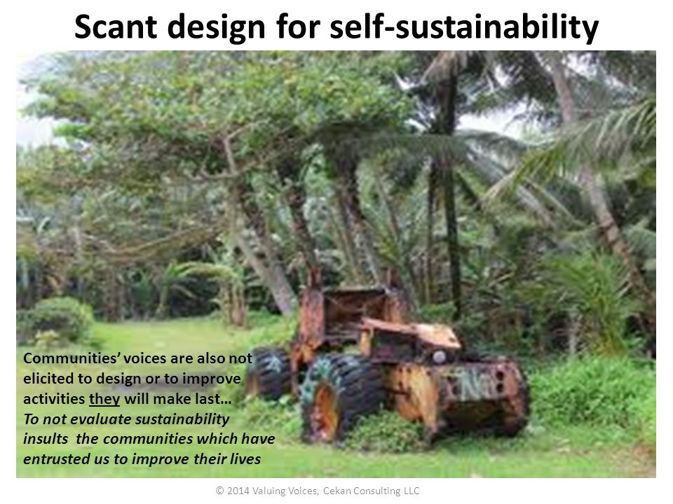 Scant design for self-sustainability