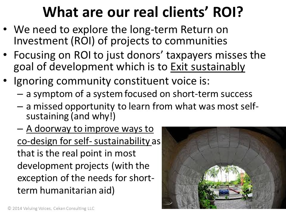 What are our real clients' ROI