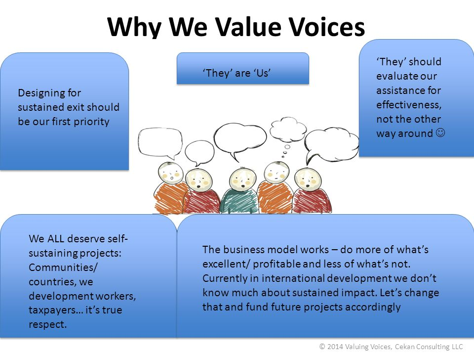 © 2014 Valuing Voices, Cekan Consulting LLC