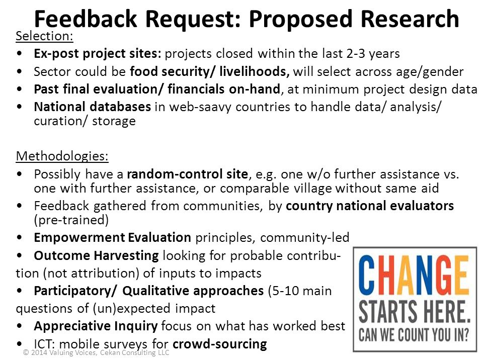 Feedback Request: Proposed Research