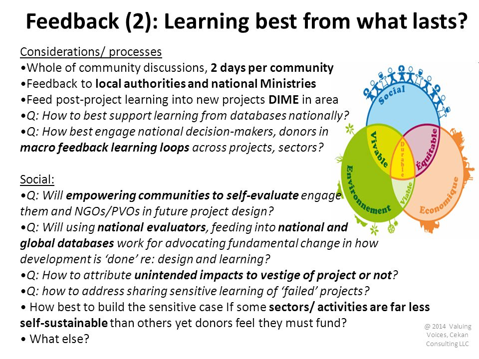 Feedback (2): Learning best from what lasts