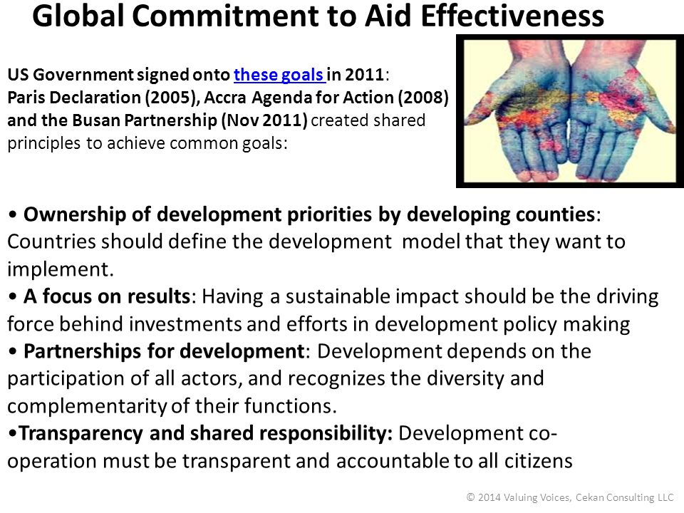 Global Commitment to Aid Effectiveness