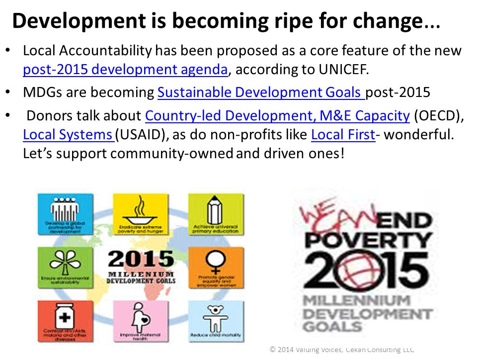 Development is becoming ripe for change…