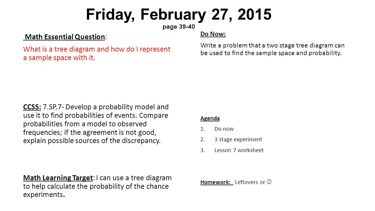 Tuesday january 27 2015 page 1 2 math essential question what friday february 27 2015 page 39 40 do now write a problem pooptronica Image collections