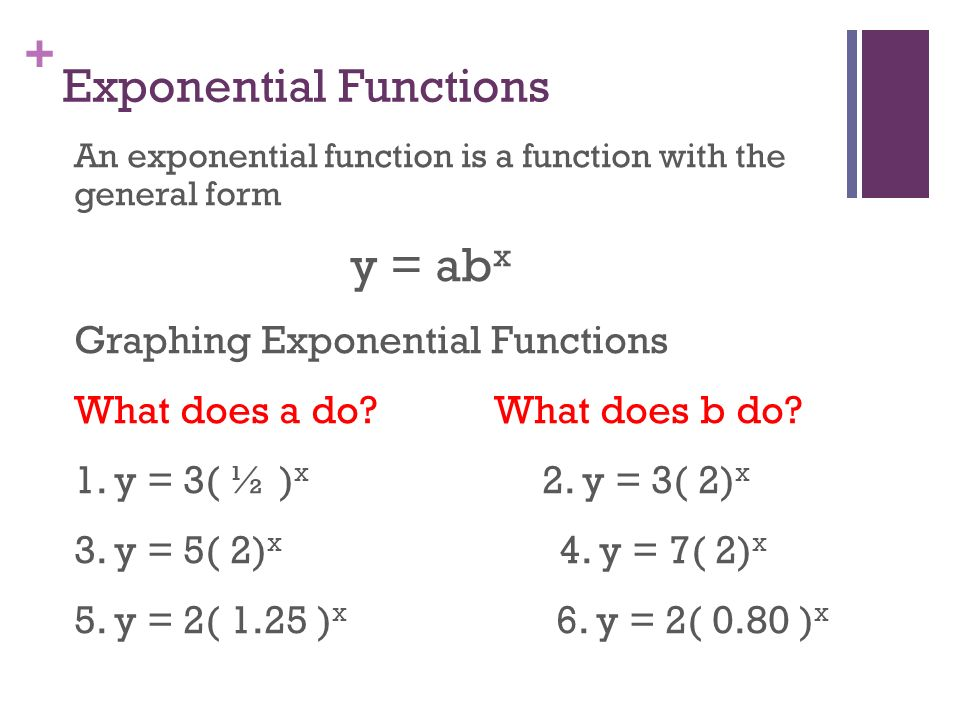 Chapter 8 Exponential and Logarithmic Functions ppt video online – Graphing Exponential Functions Worksheet